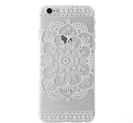 """White Mandala Flower Pattern Ultra Thin  PC Relief Back Cover Case for iPhone 6/6S 4.7"""""""