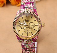 Alloy flower bracelet ladies watches