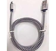 o tipo geral da linha da linha de dados linha v8 5 cores cabos USB universal de metal trançado inteligentes dados