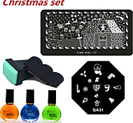 noël ongle impression set (6pcs / set)