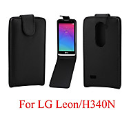 South Korea Style Vertical Leather Magnetic Case forLG Leon H340 C40
