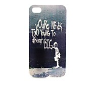 On The Wall Pattern TPU Soft Case for iPhone4/4S