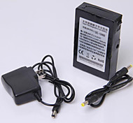 12V High Capacity Multi-purpose Rechargeable Lithium Backup Battery Black (4000mAh)