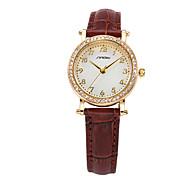 reloj dama de negocio de cuarzo reloj de pulsera de cuero marrón sinobi 11s8153l02
