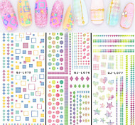 1pcs Watermark Nail Decals Stickers