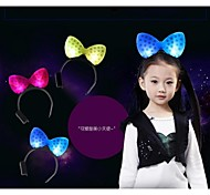 LED Lighting Bowknot Shape Hair Accessories Headband for Women Men Chilren Party Decration Gift