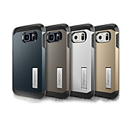 Genuine Spigen Stand Slim Armor Aluminum Metal Tpu Hybrid Case for Samsung Galaxy S6/S6 edge/S6 edge plus