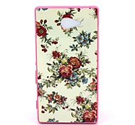 2-in-1  Pink Roses Pattern PC Back Cover with PC Bumper Shockproof Hard Case for Sony Xperia M2