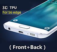 3d полный охват ТПУ высокой четкости предотвратить царапинам экран протектор для Samsung Galaxy S6 края (фронт + Back)