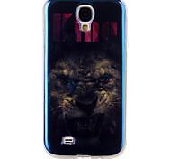 leone laser blu TPU modello copertura posteriore del guscio di protezione del telefono mobile per la galassia s4 / S5 / S6 / S6 bordo /