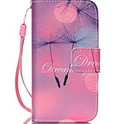 Dandelion Pattern PU Leather Material Flip Card Phone Case for iPhone 4/4S