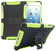 TPU + híbrido armadura de caucho resistente pc soportar casos de tapa dura de Mini iPad 3/2/1