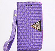 Diamond Design Leather Flip Stand Wallet Wrist Strap Rope Cover Case For iPhone 5C(Assorted Color)