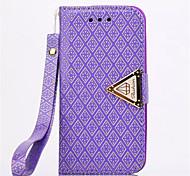 diamante tampa de couro design estar carteira pulseira capinha da tampa corda por 5c iphone