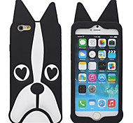 Flexible Silicone Rubber Gel Soft 3D Animal Cartoon Peach Eye Dog Design Case Cover for iPhone 6s 6 Plus