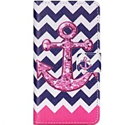 Anchor Painted PU Phone Case for Sony Xperia Z5
