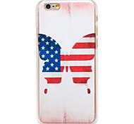 americano borboleta da bandeira padrão pc transparente Capa para iPhone 6 mais