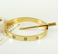 New Style 316L Stainless Steel Screw Bangle with Screwdriver Screws Never Lose Jewelry Christmas Gifts