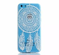 Campanula pattern TPU material Phone Case for iPhone 5C