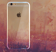Sunset Thorough Smooth Perfect Fit TPU+Silica Gel Combo Phone Case for iPhone 6/6S