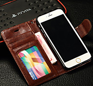 Luxury PU Leather Full Body Case with Card Slot, Frame Slot and Stand TPU Cover for iPhone 6/6S Plus(Assorted Colors)