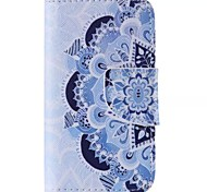 Blue and white Pattern Cell Phone Leather For iPhone 4/4S