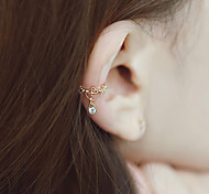European Style Fashion Rhinestone Drop Clip Earrings