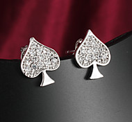 Fashion Hearts 18K Gold Plated Full Zircon Stone Earring stud Earrings For Woman&Lady