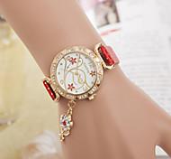Woman Flower  Wrist  Watch