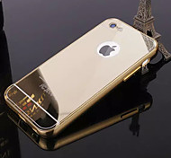Plating Mirror Back with Metal Frame Phone Case for iPhone 5/5S/SE