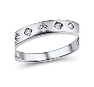 Women's Classic Sterling Silver set with Cubic Zirconia Couple Ring
