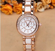 Rose gold diamond fashion imitation ceramic watch