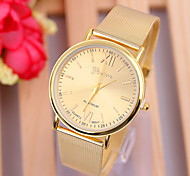 Woman's Watches Exquisite Table Series Gold Watch Strap Watch
