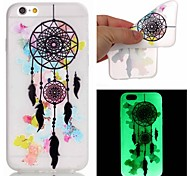 For iPhone 5 Case Glow in the Dark Case Back Cover Case Dream Catcher Soft TPU iPhone SE/5s/5