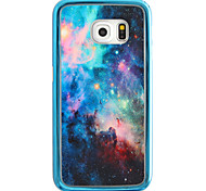Purple Star Pattern Plating TPU Phone Case for iPhone Galaxy S6 edge Plus/S6 edge/S6