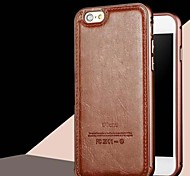 HZBYC®New Luxury Genuine Leather Case for Metal Integrated Frame Case for Apple iPhone 5/5S(Assorted Colors)