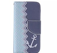 Anchors Pattern Cell Phone Leather For iPhone 5/5S