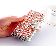 cristal bling de luxe& cas de diamant sac flip en cuir pour iPhone 6 plus (couleurs assorties)