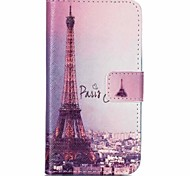 Iron Tower Painted PU Phone Case for Galaxy J1 Ace/J2/J1