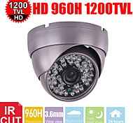 cctv 1200tvl hd armadura LEDs IR Sony CMOS 3.6mm 48pcs cámara de seguridad de vigilancia domo