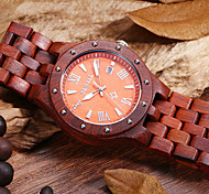 Hommes Bracelet Montre Quartz Bois Bande Marque-