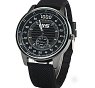 JIS Male Quartz Watch with Rubber Band Decorative Sub-dial