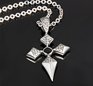Rubik's Cube Cross Men's Stainless Steel Domineering Necklace