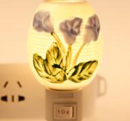 Flower-patterned Ceramic Lamp Night Light Bedside Lamp Fragrance Festival Gift