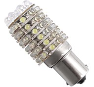 2*Car 1156 1073 T25 Tail Brake Stop Bulb White 63 LED Light 12V
