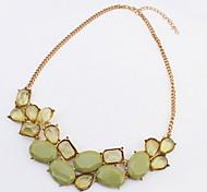 Bohemia Street Fashion Personality Exaggerated Decorative Stones Necklace