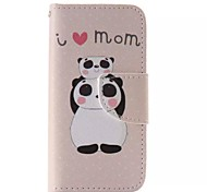 Panda Pattern Cell Phone Leather For iPhone 5/5S