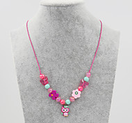 Fashion Cute Pink Butterfly Pendant Necklace