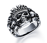 Domineering Skeleton Ghost King Gentleman Personality Stainless Steel Ring