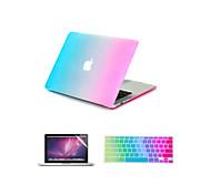 """3 в 1 радуги красочным прорезиненной крышки жесткого случае + клавиатура крышка + экран протектор для Macbook Air 11 """"/ 13"""""""